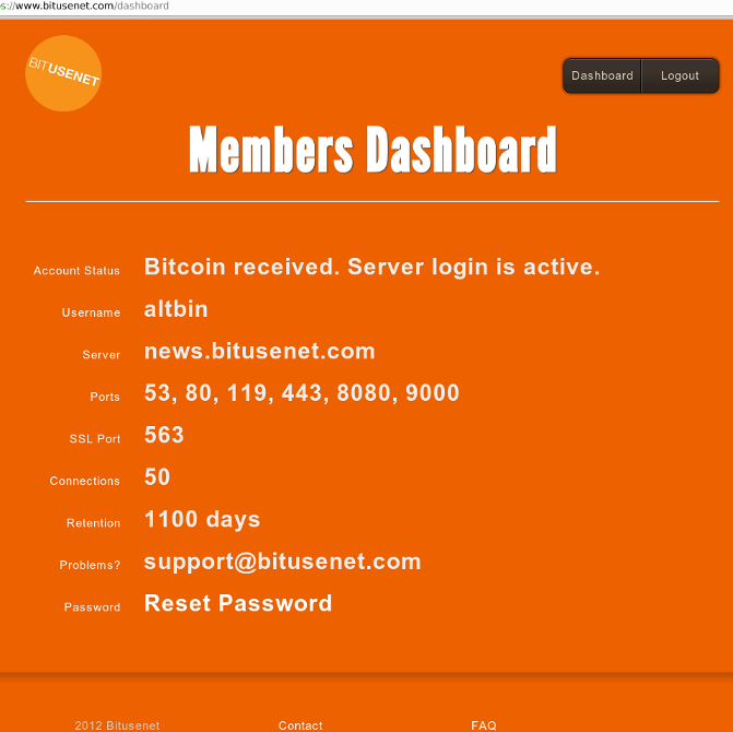 usenet with bitcoin